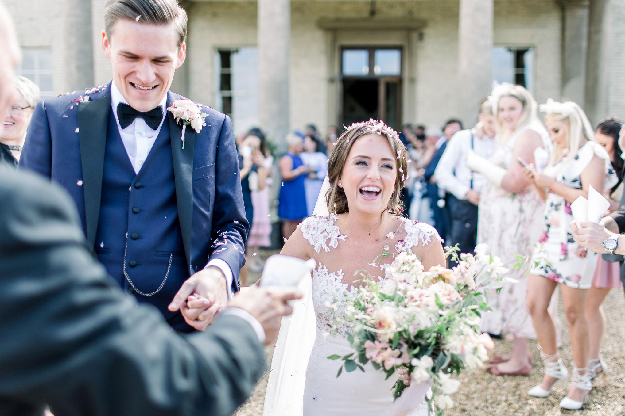 Bride and Groom at Stubton Hall